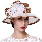 4c1fe352 Koola's Hats Derby Hat Kentucky Derby Sinamay Wedding White Sun Women Hats