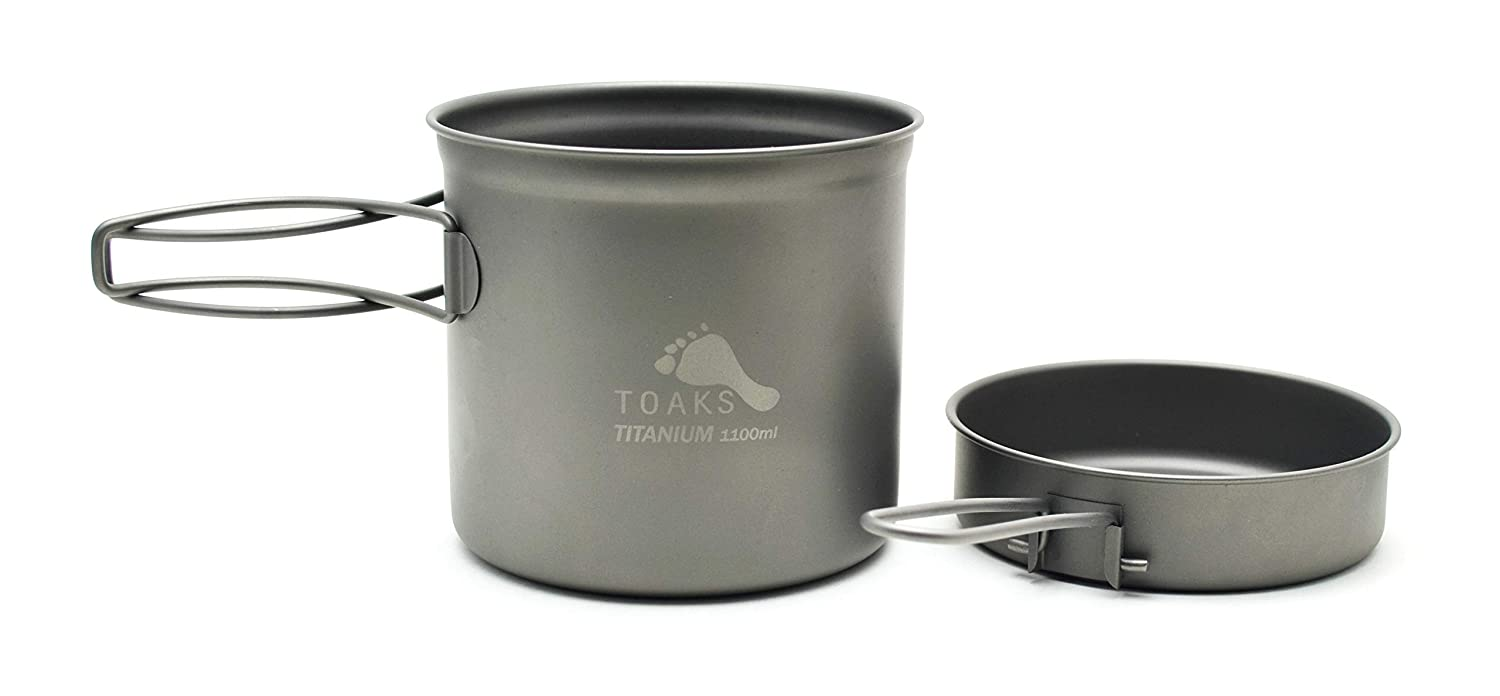 2. TOAKS Titanium Pot with Pan
