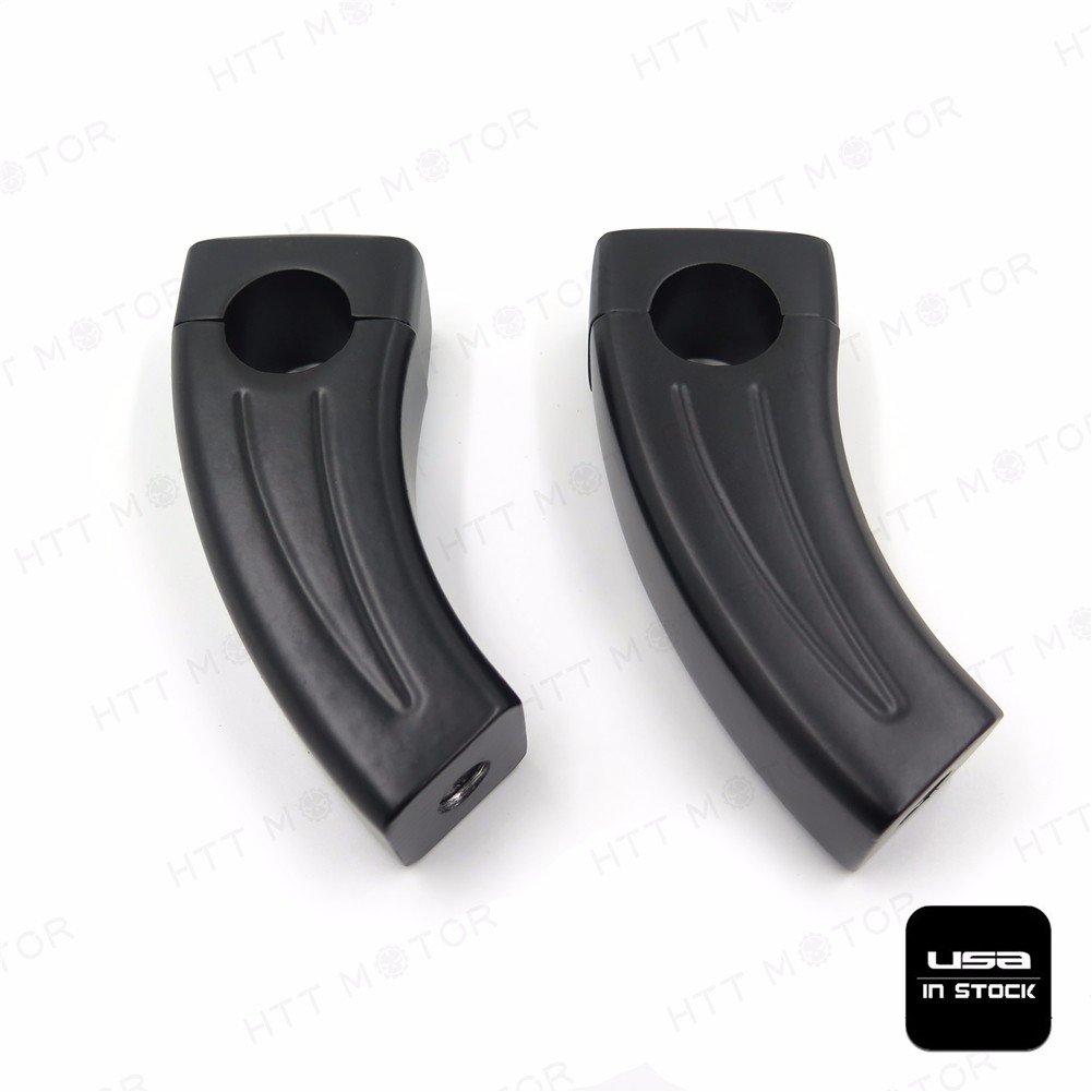 Black Handlebar Risers Compatible with Suzuki Boulevard Intruder Volusia Yamaha V-Star Vmax HTTMT XH6014-001-1