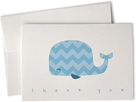 48 Cards /& Envelopes Chevron Animals Around The World Baby Thank You Cards