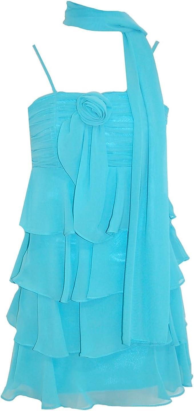 Gol G.O.L. - Festkleid festliches Kleid Mädchen mit Stola, türkis