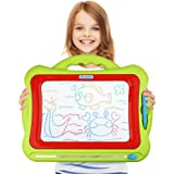 Magnetic Drawing Board - 12.8 Inch Large Drawing Area Kids Magna Doodle Erasable Writing Sketch Board Pad Upgrade Version Green