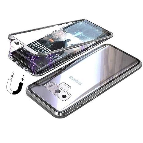 Funda Samsung Galaxy Note 9, [Adsorción Magnética] Marco de Metal Carcasa de Teléfono