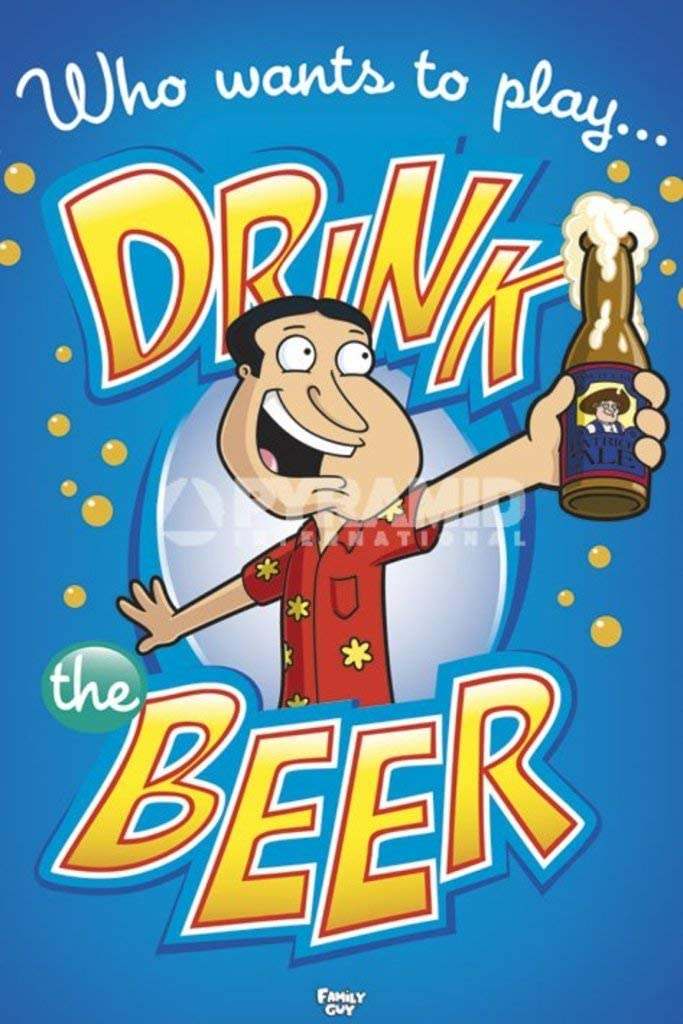 Pyramid America Family Guy Drink The Beer Cool Wall Decor Art Print Poster 24x36