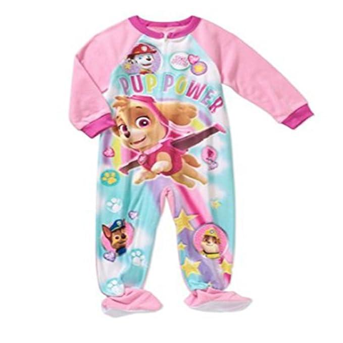 Amazon.com  Paw Patrol Toddler Girl Micro Fleece Footed PJ (2T ... 7f5e47acc