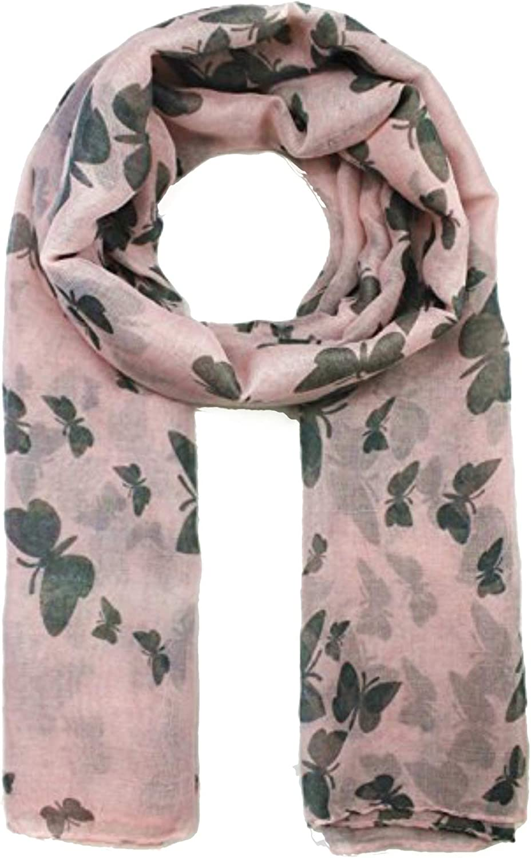 Grey Charcoal Print Scarf Black Pink Multi Colour Pattern Shawl Wrap Scarves New