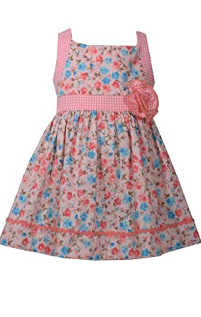 3adbe1db99ce0a Bonnie Jean Baby Girl's Ditsy Printed Poplin Floral Open Back Summer Dress,  ...