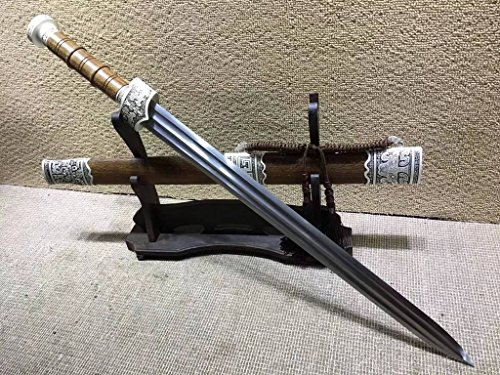 Lin creative Yuewang Sword,Folded Steel Blade,Rosewood Scabbard,Alloy Fitted,Handmade