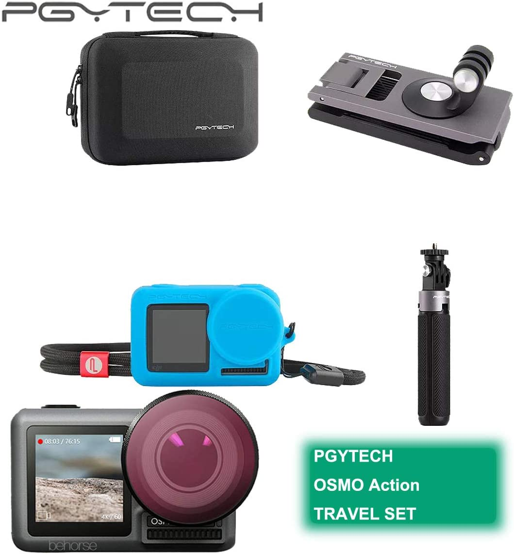 PGYTECH OSMO Action Lens Hood PGYTECH Huaye OSMO Compact Action 4K Waterproof Camera Sports Type-C Cable Protector Lens Hood Cage Compatible with DJI OSMO Action Camera Accessories