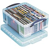 Really Useful Box(R) Plastic Storage Box, 17 liters, 18 7/8in. x 15 3/8in. x 8in, Clear