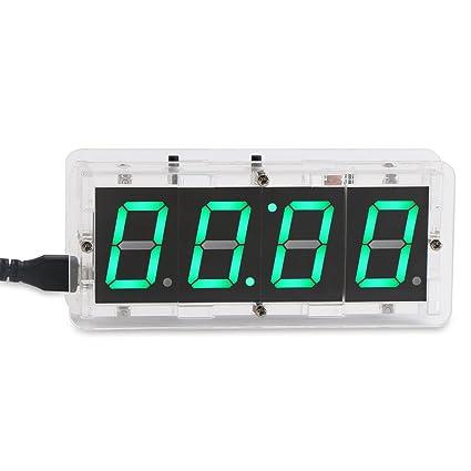 DROK® Reloj multifunción eléctrico Digital de LED, reloj de alarma de temperatura 1,