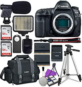 Canon EOS 5D Mark IV Digital SLR Camera Body + 2x Sandisk 64GB SDHC Memory Cards + Accessory Bundle