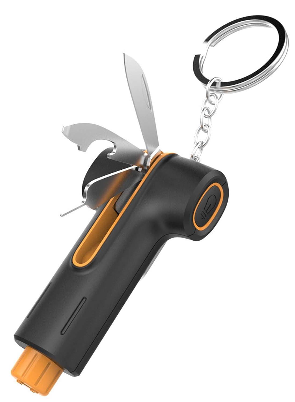 Outil de Sauvetage en Cas daccident Coupe-Ceinture de s/écurit/é et d/écapsuleur Lampe Laser CaLeQi Marteau de s/écurit/é de Voiture 5 en 1 avec Marteau Brise-fen/être