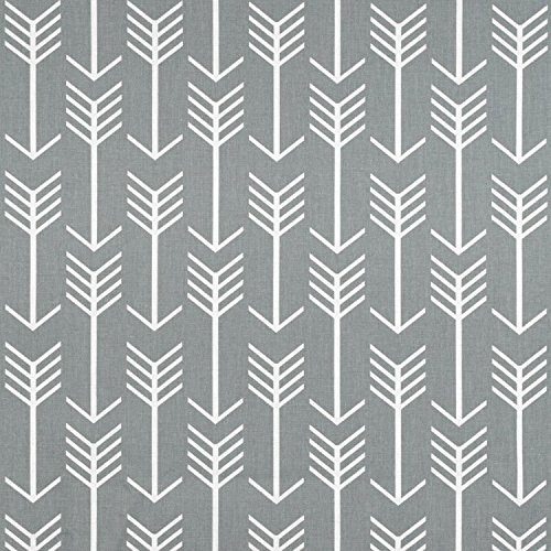 Premier Prints Arrow Cool Grey Fabric - By the Yard Upholstery Square Weave