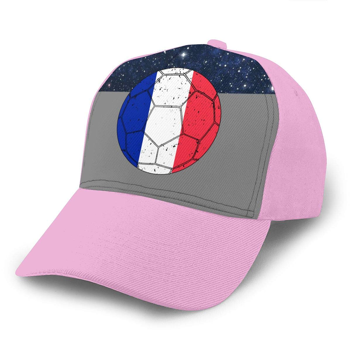 Y94OIW@MAO France Flag Soccer Football11 Peaked Cap for Unisex Cotton Sports Cap