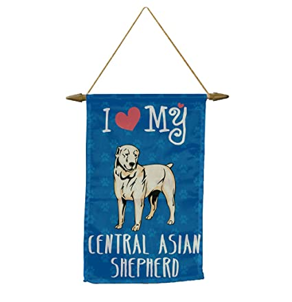2e336cf0286 Amazon.com   I Love My CENTRAL ASIAN SHEPHERD DOG Banner Flag with ...