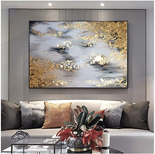 Wall Art Oil Painting Abstract Painting Home Decor Canvas Print Living Room Modern 50x150cm no Frame