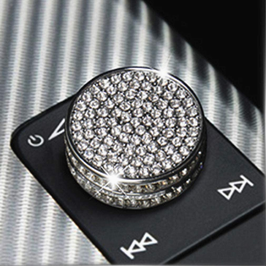 1 Piece//Set HAILWH Fit for Audi Q5 2017-2020 Bling Accessories Multimedia Air Conditioning Central Control Knob Rhinestone Decal Cover Sticker Wreath Decorative Frame for Warning Light