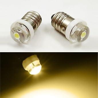 Bombilla LED E10 3 V 4,5 V 6 V 0,5 W 0