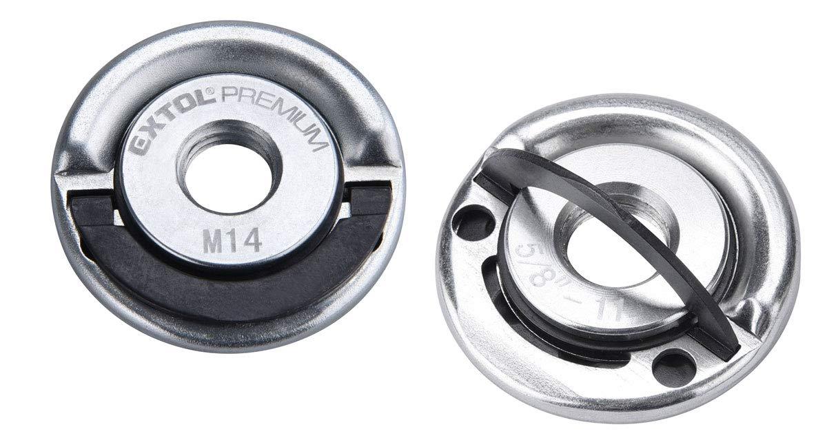 bis 1000W f/ür alle g/ängigen Fabrikate Extol Premium 8898050 2er Set Extol Schnellspannmutter M14 f/ür Winkelschleifer
