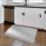 Soft Microfiber Shag Bath Rug metal,stainless steel texture background with reflection Weather-Proof and Mold W30'' x H18''