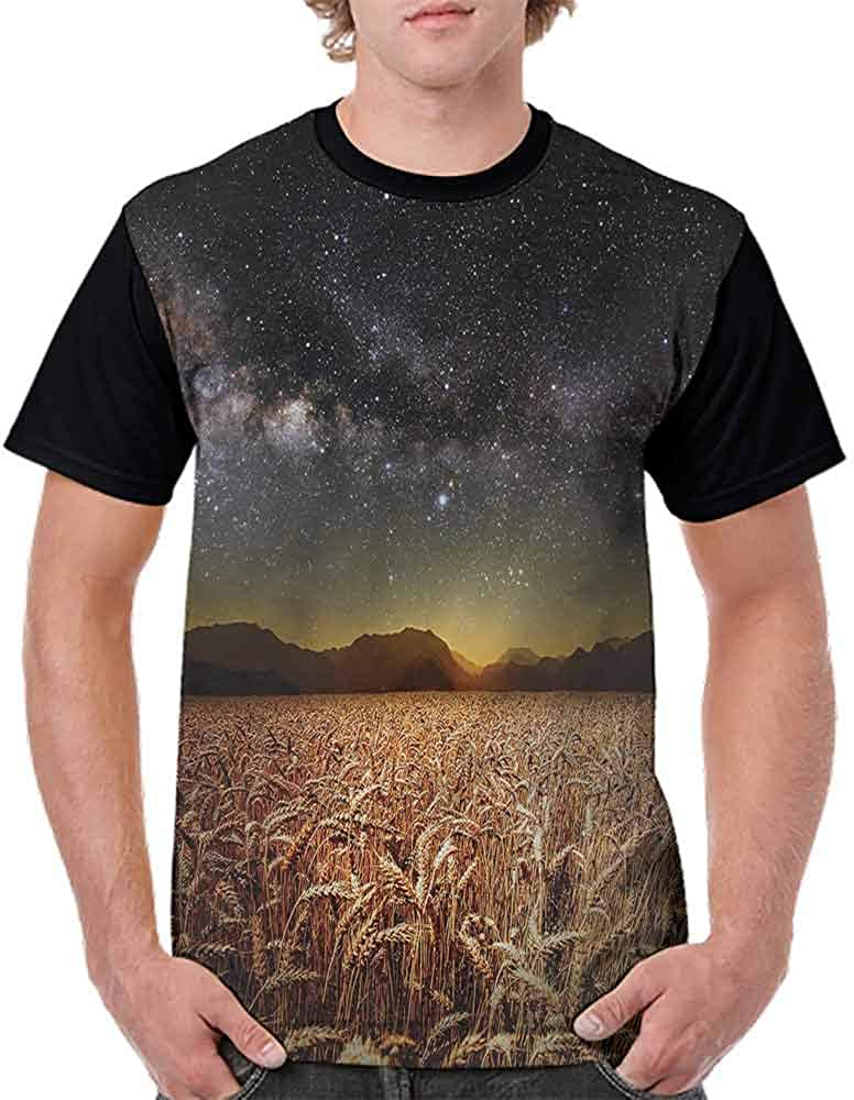 Printed T-Shirt,Star Clusters in Twilight Fashion Personality Customization