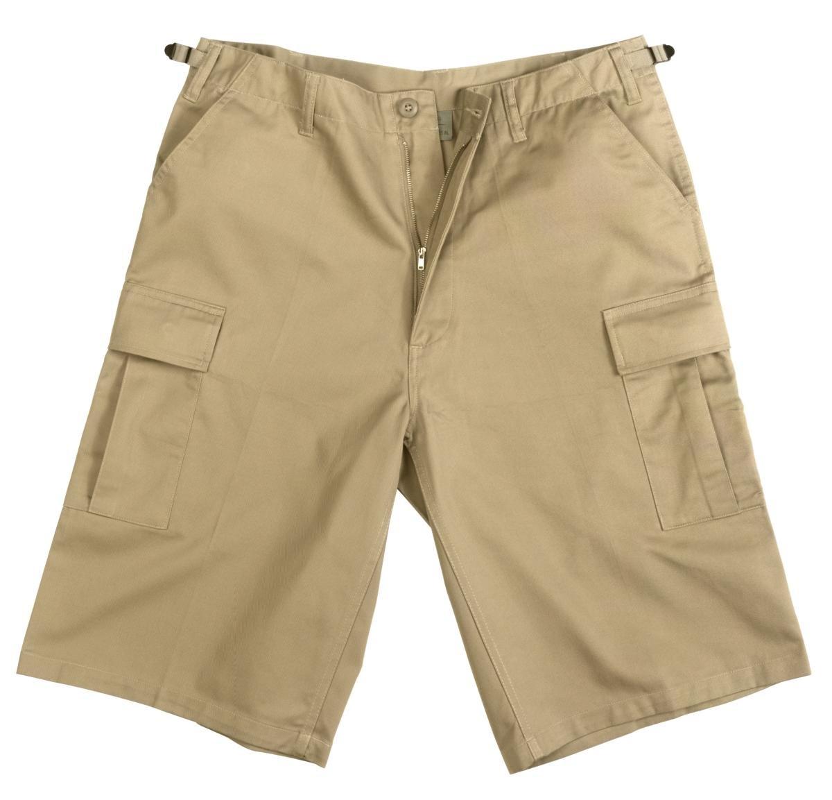 Rothco Longer Style Bdu Short - Khaki, Small