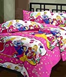 Kunal Princess Double Bedsheet with 2 Pillow Covers - Double, Pink