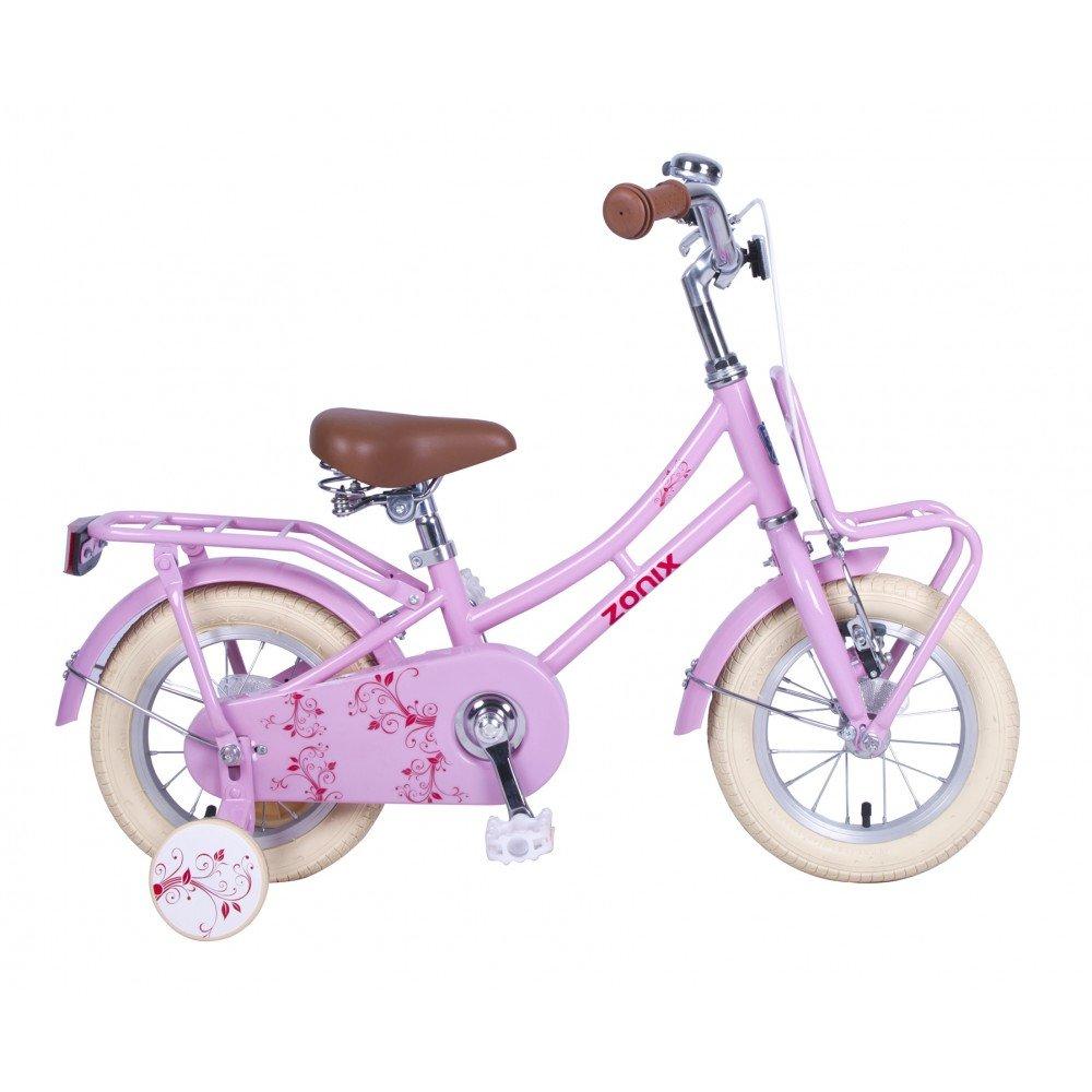 Bicicleta Chica 12 Pulgadas Zonix Oma con Freno Delantero al Manillar y Contropedal Trasero y Ruedas Desmontables 85% Montada Rosa