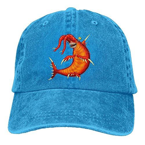 NO4LRM Men's Women's Cool Lobster Cotton Adjustable Peaked Baseball Dyed Cap Adult Washed Cowboy Hat ()