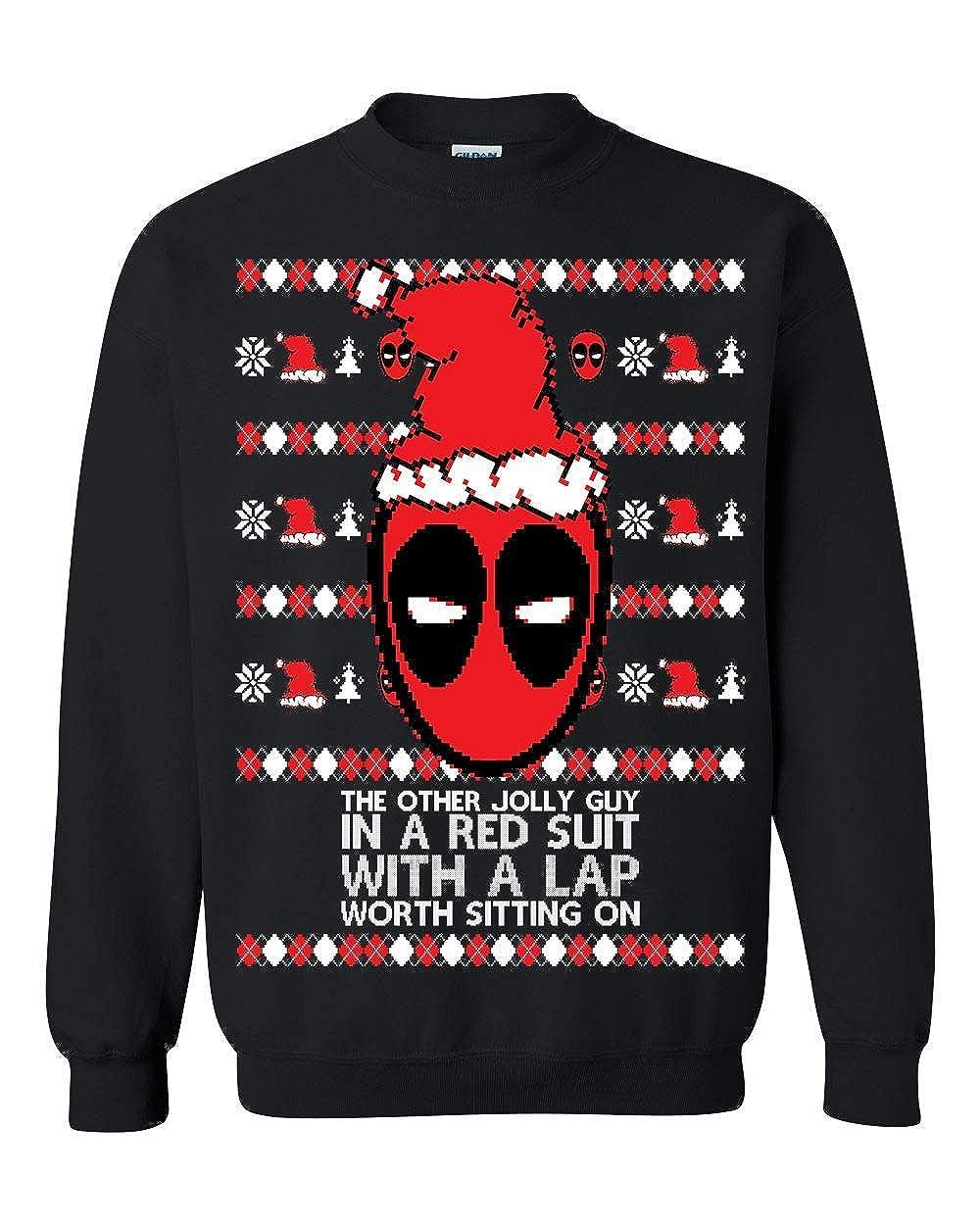 Memetic Ugly Christmas Sweater Deadpool Unisex