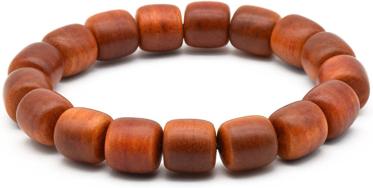 Zen Dear Unisex Natural Blood Dragon Wood Buddhist Prayer Beads Bracelet Necklace Red Agathis King of Wood Mala Beads