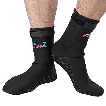 1 par de calcetines de buceo, deportes acuáticos, natación, surf, esnórquel, neopreno, botas, Large, Negro: Amazon.es: Deportes y aire libre