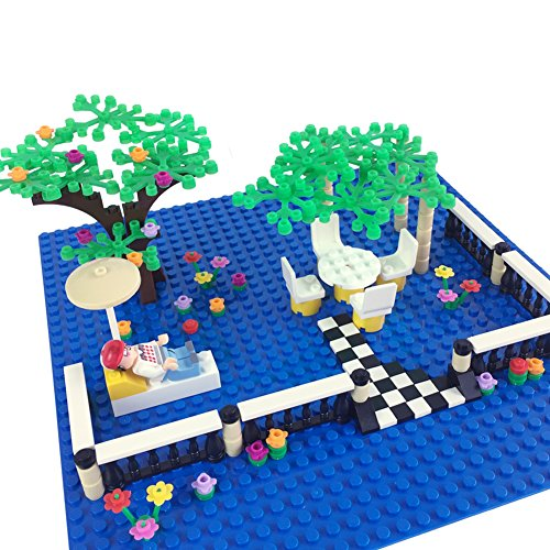 Brick Building Blocks Dream Town City Garden Trees and flowers Plants Fence Pieces Building Sets Fit with Major Brands Tree Houses Parts Education Toy