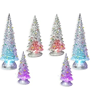 Amazon Com Banberry Designs Christmas Tree Led Set Of 6