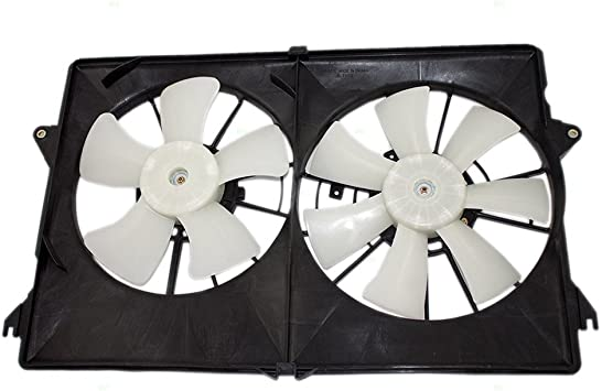 Dual Cooling Fan Assembly Replacement for Pontiac Chevrolet Oldsmobile 88986470