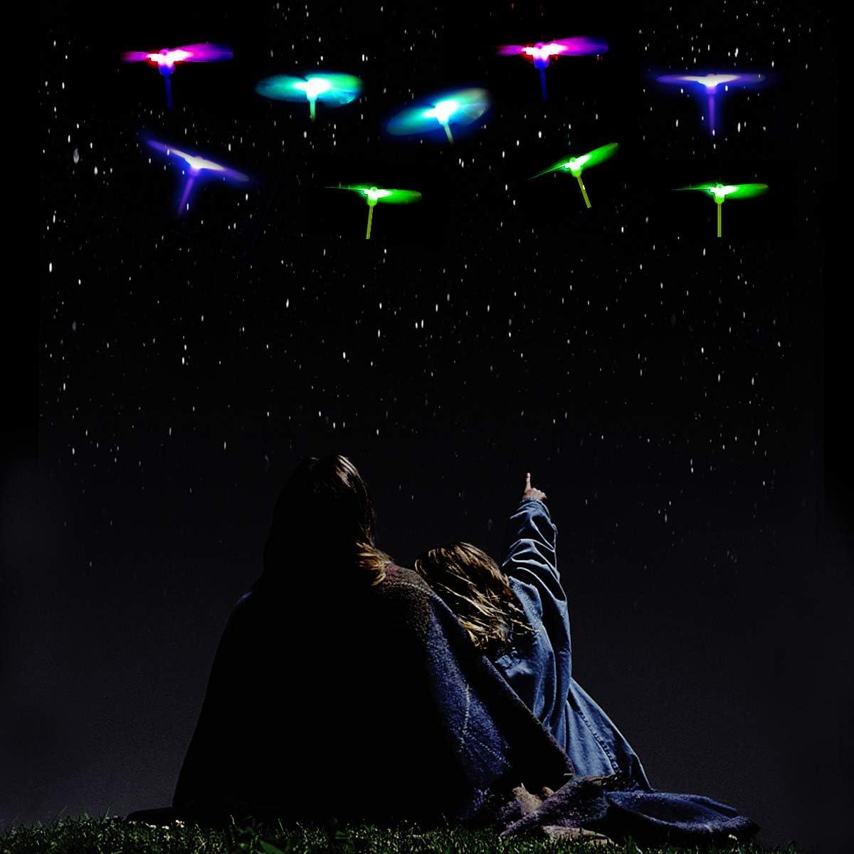 Favores de la Fiesta Herefun Helic/óptero Vuelo Juguete A 20 Piezas Volador Luminoso Arrow Rocket Copters con Luz LED Helic/óptero Noche Volando Juguete