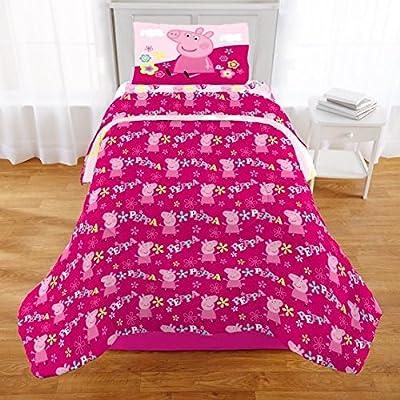 ae2ad2297f35b N2 2 Piece Kids Girls Cute Pink Peppa Pig Comforter Twin Full Set ...