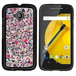 Eason Shop / Premium SLIM PC / Aliminium Casa Carcasa Funda Case Bandera Cover - Azulejos de piedra rosa Patrón de mármol - For Motorola Moto E ( 2nd Generation )