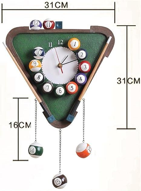 HTDZDX Pool Rack Ball Clock Triángulo Mesa de Billar Mesa de ...