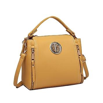 395bf83e54536 Miss Lulu Damentasche Schultertasche Top Griff Tasche Mode Henkeltasche Pu  Leder Handtasche Für Damen Mädchen (