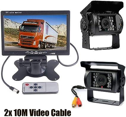 "5/"" LCD Monitor Car Rearview Kit For Bus Truck 18 IR Reversing Backup Camera"