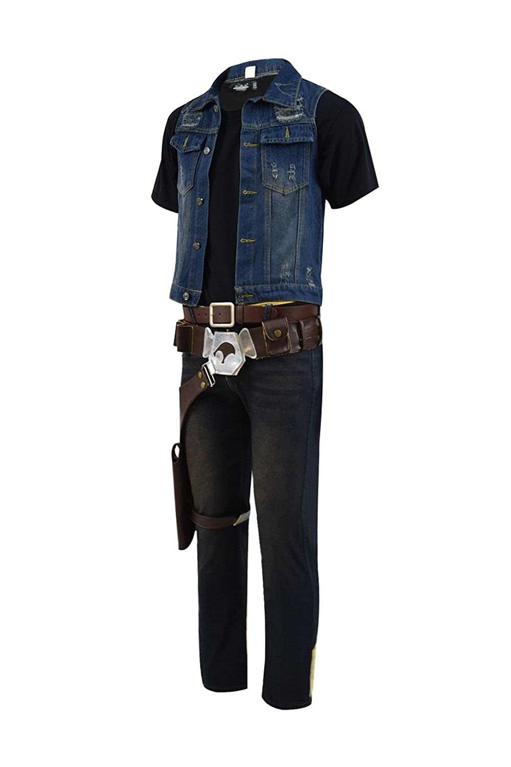 a43347d2903eb Amazon.com: TISEA Parzival Wade's Jean Vest Extra Life Coin Props  Accessories Collections: Clothing