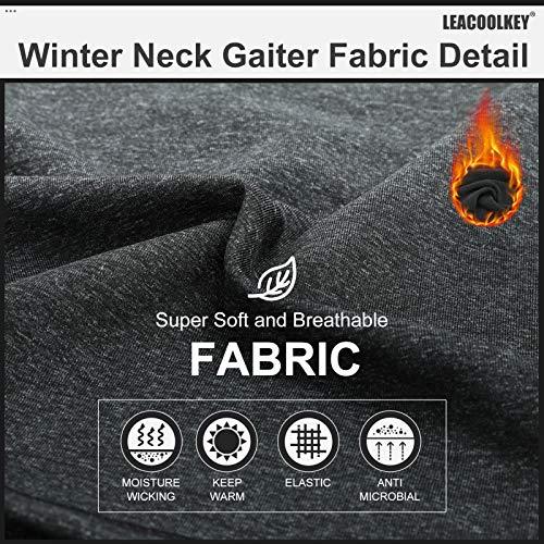 Winter Neck Gaiter Warmer, Fleece Face Covering Scarf, Outdoor adjustable Scarf