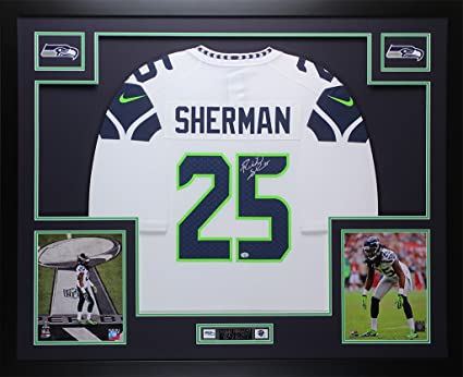 Amazon.com: Richard Sherman Autographed White Seahawks Jersey ...