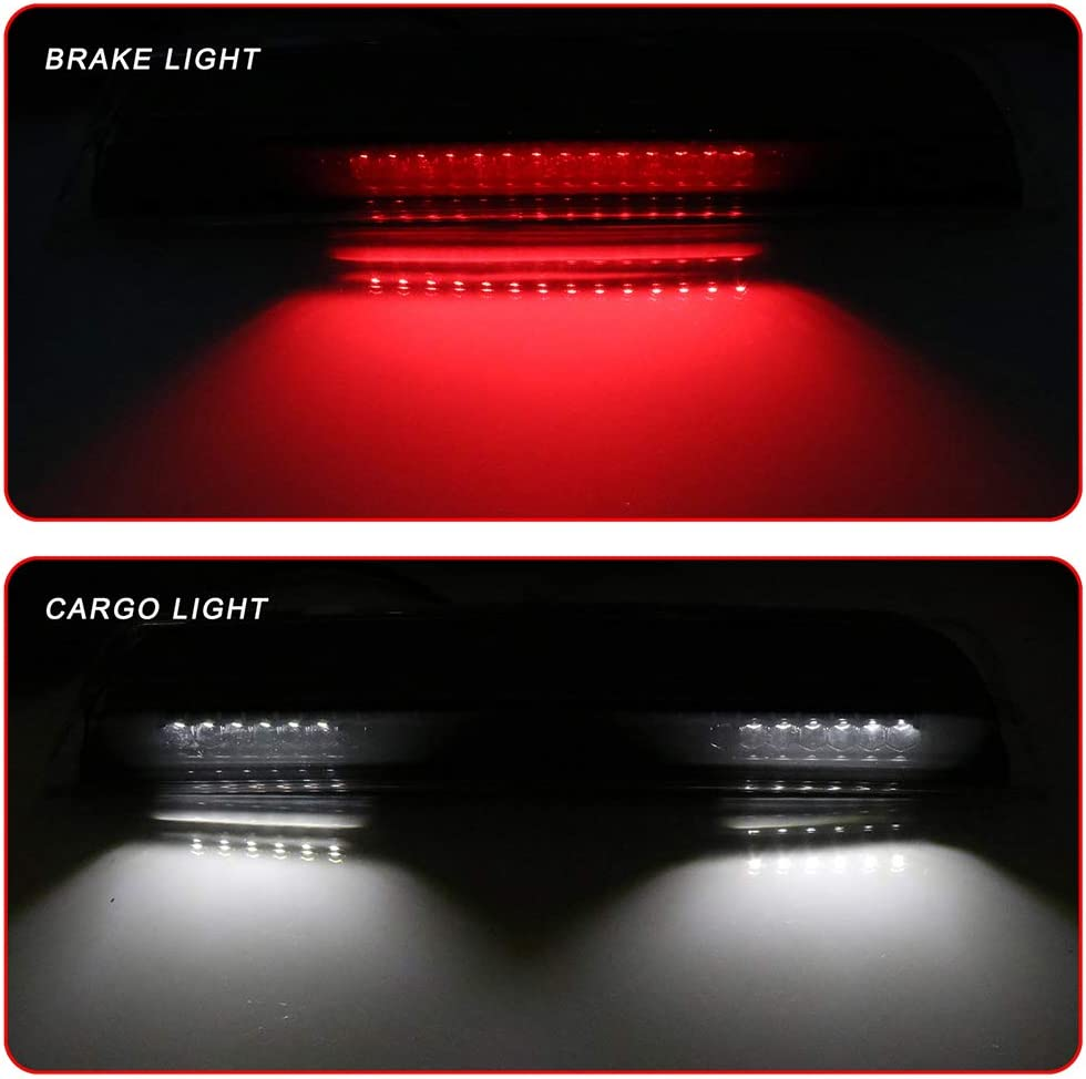 High Mount Brake Light LED 3rd Light Clear Lens Rear Roof Light Replacement fit for 2004-2015 Nissan Titan 2005-2016 Nissan Frontier 26590-EA800