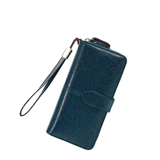 c040f50bd30e Women's Wallet,Wristlet RFID Card Holder Purse,Travel Genuine Leather Phone  Clutch,Zip Around Luxury Money Organizers