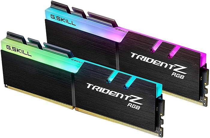 G.Skill Trident Z RGB Series 32GB (2 x 16GB) 288-Pin SDRAM PC4-28800 DDR4 3600 CL18-22-22-42 1.35V Dual Channel Desktop Memory Model F4-3600C18D-32GTZR