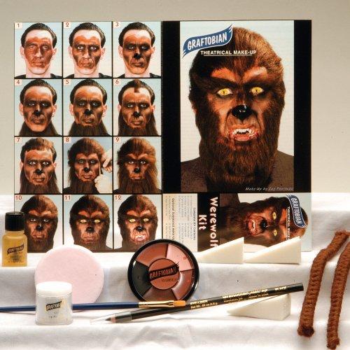 Werewolf Makeup Kit, One-Size, Brown