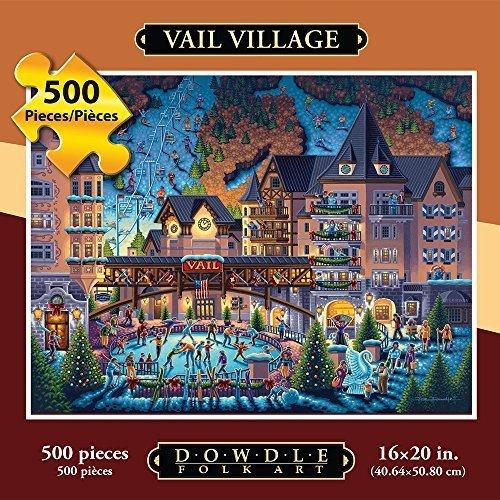 Jigsaw Puzzle - Vail Village 500 Pc By Dowdle Folk Art by Dowdle Folk Art